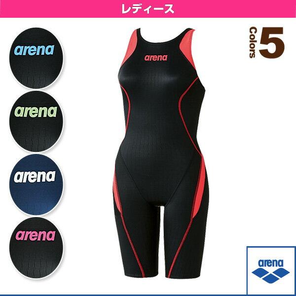 【水泳 ウェア(レディース) アリーナ】ハーフスパッツ(クロスバック)/レーシング水着/レディース(ARN-7030W)