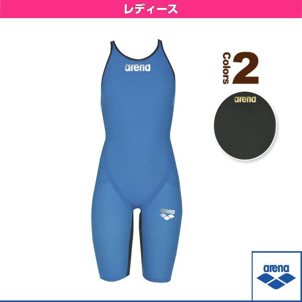 【水泳 ウェア(レディース) アリーナ】POWERSKN carbon flex/ハーフスパッツオープンバック/レーシング水着/レディース(ARN-7502W)
