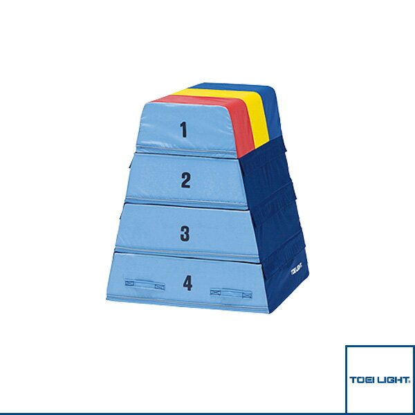 【体育館用品 設備・備品 TOEI】[送料別途]ソフト跳び箱4(T-1966)