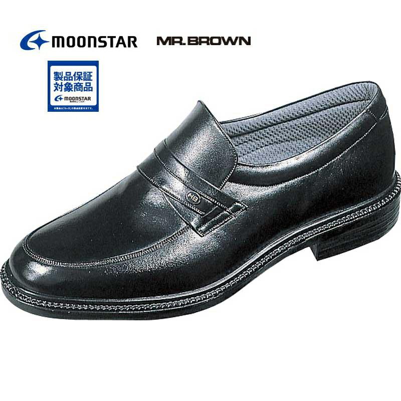 ゆったり4E?やわらか天然皮革で大人気 ミスターブラウン 【MR.BROWN】 MB6022 ブラック メンズ?紳士靴?コンフォート?ビジネス?ムーンスター
