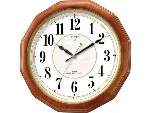 生活用品 シチズン ネムリーナピュアM655 自動点灯機能付 電波掛け時計 4MY655-006