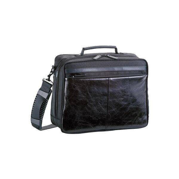生活用品 メンズ ハミルトン HAMILTON 合皮コンビ ショルダーバッグ メンズ 33667 ブラック