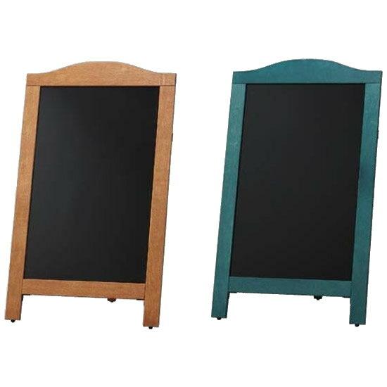 インテリア 光 (HIKARI) マーカー用スタンド黒板片面 茶枠・YKBD103-1