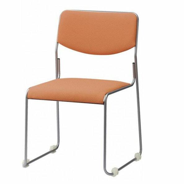 家具 イス テーブル ループスタッキングチェア ハイテンションパイプ CM270-MZY 4脚セット グリーン