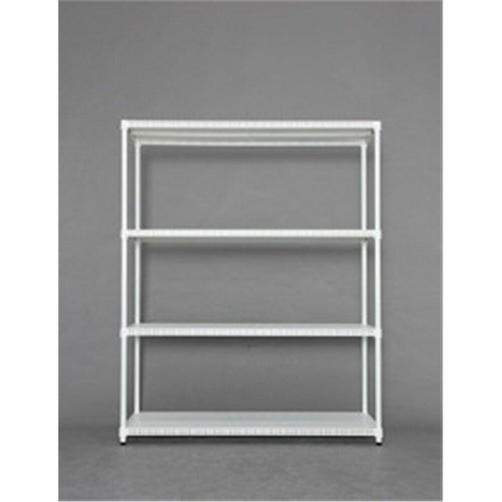 ラック シェルフ ディスプレーラック 家具 カラーパンチングラック 棚板4枚タイプ 1215 ホワイト