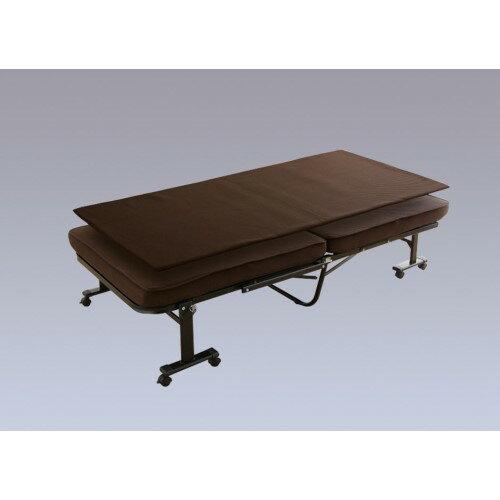 折りたたみベッド 組立不要 指挟み等の事故を防止する、安全設計 人気商品 折りたたみベッド ブラウン