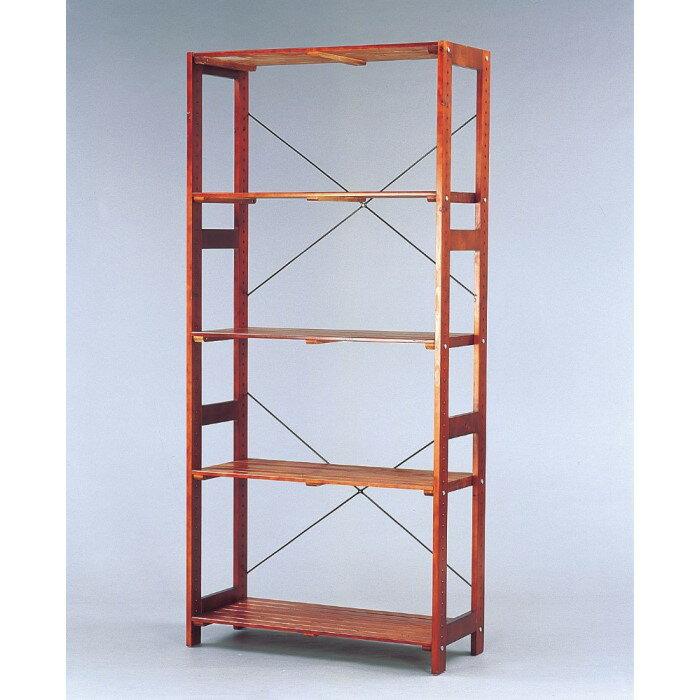 木製 ラック ナチュラルテイストな木製ラック!! 小物 収納 棚 シェルフ オープンラック 天然木 収納家具 ブラウン W835×D350×H1790