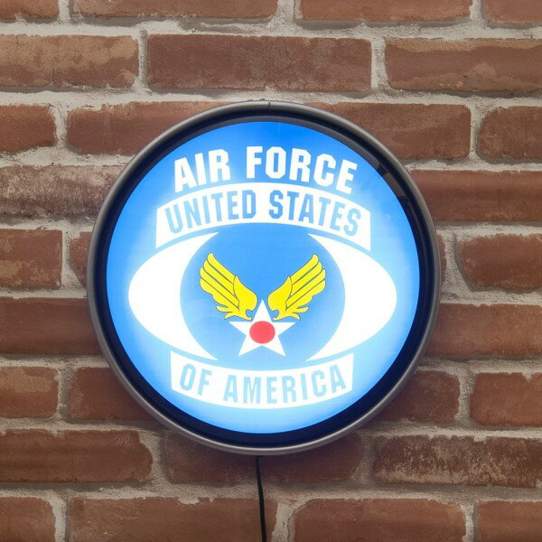 ウォールライト 店舗や室内を賑やかに レトロ雑貨 ラウンドウォールランプ U.S. Air Force