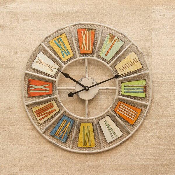 壁かけ時計 ちょっと大きめで存在感のある 人気の アンティーククロック メッシュ