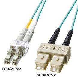 サンワサプライ OM3光ファイバケーブル HKB-OM3LCSC-05L
