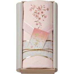 桜刺しゅう シルク混綿毛布(木箱入) ピンク OK1708 C7140565