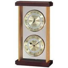 温・湿度・時計 EX-742 ゴールド