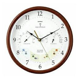 掛け時計 ウェザーパル 電波時計1台4役 BW-873 木枠
