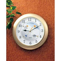 掛け時計 ウォールクロック ウェザーパル BW-5048 シャンパンゴールド