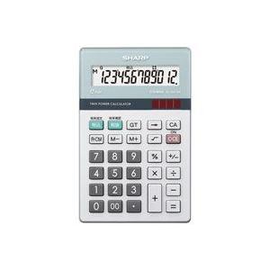 文具・オフィス用品 (まとめ買い)シャープ SHARP 環境配慮電卓 ナイスサイズ EL-N412K 【×3セット】