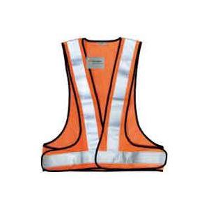 日用雑貨 (まとめ買い)スリーエム 3M 高視認性反射ベストSVP-02R レッドオレンジ 【×6セット】