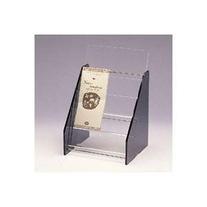 日用品雑貨 クラウン パンフレット台 アクリル製 CR-PF13-T 1台