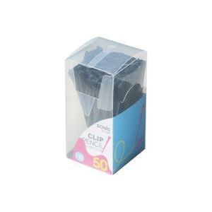 文具・オフィス用品 (まとめ買い)ソニック クリップ付ペンシル50本入 DA-488-D 黒 【×10セット】