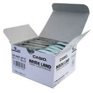 生活用品・インテリア・雑貨 カシオ計算機(CASIO) ラベルテープ XR-9WE 白に黒文字 9mm 5個