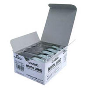 生活用品・インテリア・雑貨 カシオ計算機(CASIO) テープ XR-12X-5P-E 透明に黒文字 12mm5個
