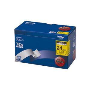 文具・オフィス用品 TZeテープ(ラミネートテープ) ピータッチ専用テープ(バリューパック) 黄(黒文字) 24mm 5個入