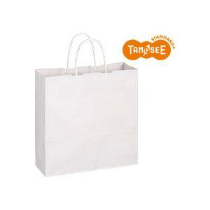文具・オフィス用品 (まとめ)TANOSEE 手提袋 丸紐 白無地・中 50枚入×6パック