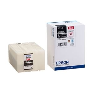 パソコン・周辺機器 エプソン ビジネスインクジェット用 インクカートリッジL(ブラック)/約10000ページ対応 ICBK91L
