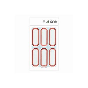 (業務用100セット) エーワン セルフ角ペーパー 05001 小 赤枠 【×100セット】