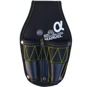 (まとめ)電工ポケット WAIST GEAR 【ペンチ差し×5セット】 グリーン(緑) マーベル MDP-82AG
