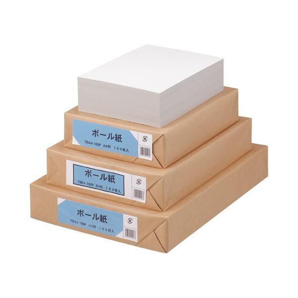 文具・オフィス用品 (まとめ) TANOSEE ボール紙 A3 1パック(100枚) 【×2セット】