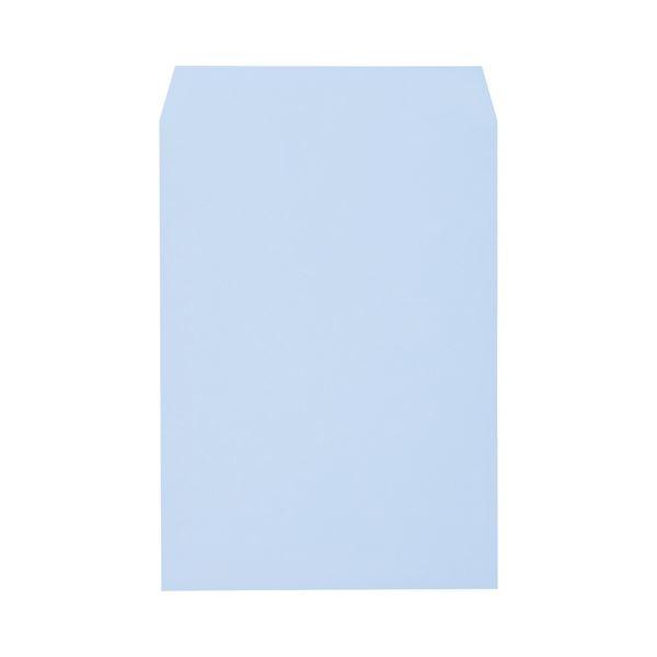 文具・オフィス用品 (まとめ) キングコーポレーション ソフトカラー封筒 角2 100g/m2 アクア K2S100A 1パック(100枚) 【×3セット】