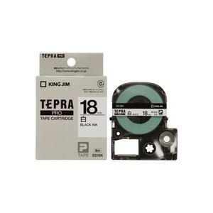 生活用品・インテリア・雑貨 (業務用30セット) キングジム テプラPROテープ SS18K 白に黒文字 18mm 【×30セット】