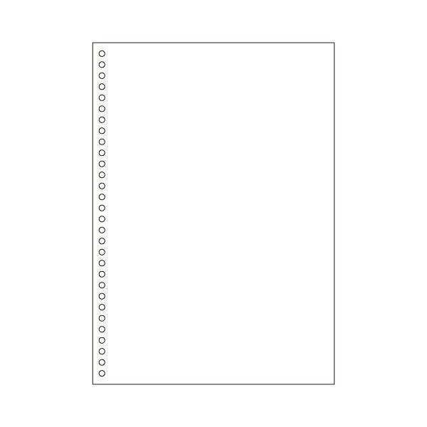 AV・デジモノ (まとめ) ヒサゴ マルチプリンター帳票(エコノミープライス) A4 白紙 30穴 BPE2049 1箱(2500枚) 【×4セット】