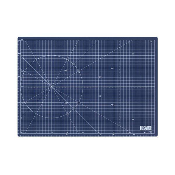 文具・オフィス用品 (まとめ) オルファ ふたつ折りカッターマット A3 ネイビー (文具専用) 223BSNV 1枚 【×2セット】