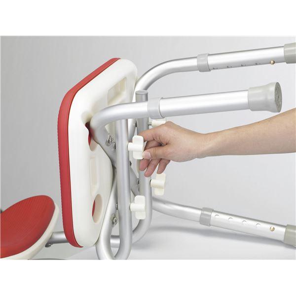 アロン化成 シャワーチェア 安寿背付シャワーベンチMini レッド 536-172