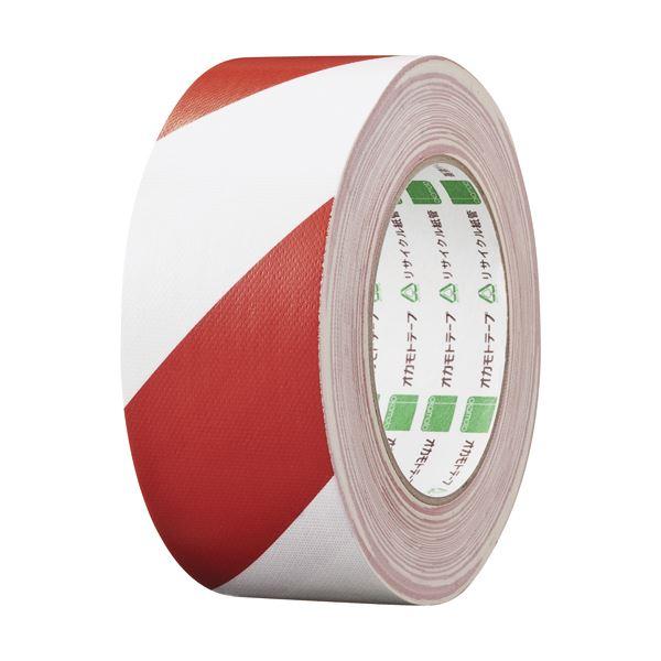 文具・オフィス用品 便利 日用雑貨  (まとめ買い) 布トラテープ 50mm×25m 赤/白 NO.111トラRW 1巻 【×5セット】