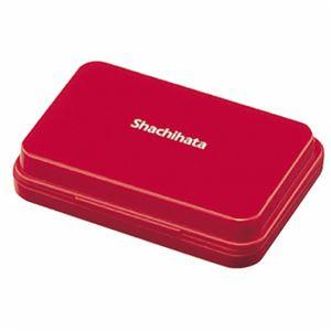 文具・オフィス用品 (まとめ) シャチハタ スタンプ台 小形 赤 HGN-1-R 1個 【×10セット】
