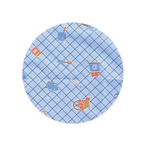 (まとめ)宇都宮製作 食事用エプロン 生き活きお食事用エプロン袖付 ブルー N189-F【×2セット】