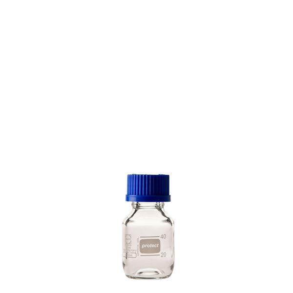 科学・研究・実験 関連商品 ねじ口びん セーフティコート 青キャップ付 50mL【10個】