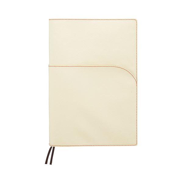 文具・オフィス用品 (まとめ) SEF ノートカバー セミB5 ホワイト×グアバ SEFNTCB5WH 1冊 【×4セット】