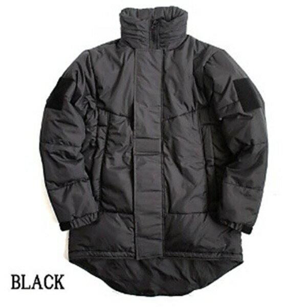 ミリタリー U SタイプPCU LEVE7 TYPE2 中綿パーカー ブラック ( XL相当)