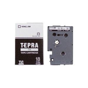 生活用品・インテリア・雑貨 (業務用30セット) キングジム テプラTRテープ TC18S 白に黒文字 18mm 【×30セット】