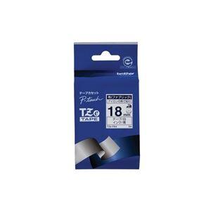 生活用品・インテリア・雑貨 (業務用30セット) ブラザー工業 布テープ TZe-FA4白に青文字 18mm 【×30セット】