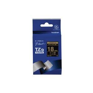 生活用品・インテリア・雑貨 (業務用30セット) ブラザー工業 文字テープ TZe-344黒に金文字 18mm 【×30セット】