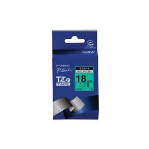 文具・オフィス用品 (業務用30セット) ブラザー工業 文字テープ TZe-741緑に黒文字 18mm 【×30セット】