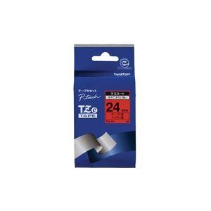 生活用品・インテリア・雑貨 (業務用30セット) ブラザー工業 文字テープ TZe-451赤に黒文字 24mm 【×30セット】