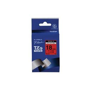 生活用品・インテリア・雑貨 (業務用30セット) ブラザー工業 文字テープ TZe-441赤に黒文字 18mm 【×30セット】