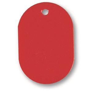 文具・オフィス用品 (まとめ) ソニック 番号札 小 無地 赤 NF-751-R 1パック(10個) 【×30セット】