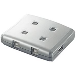 AV・デジモノ (業務用10セット) エレコム(ELECOM) USB切替器4切替 USS2-W4 【×10セット】
