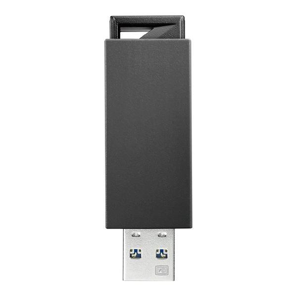 アイ・オー・データ機器 USB3.0/2.0対応 ノック式USBメモリー 64GB ブラック U3-PSH64G/K